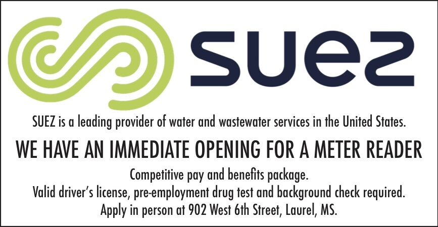 Suez has an immediate opening for a meter reader