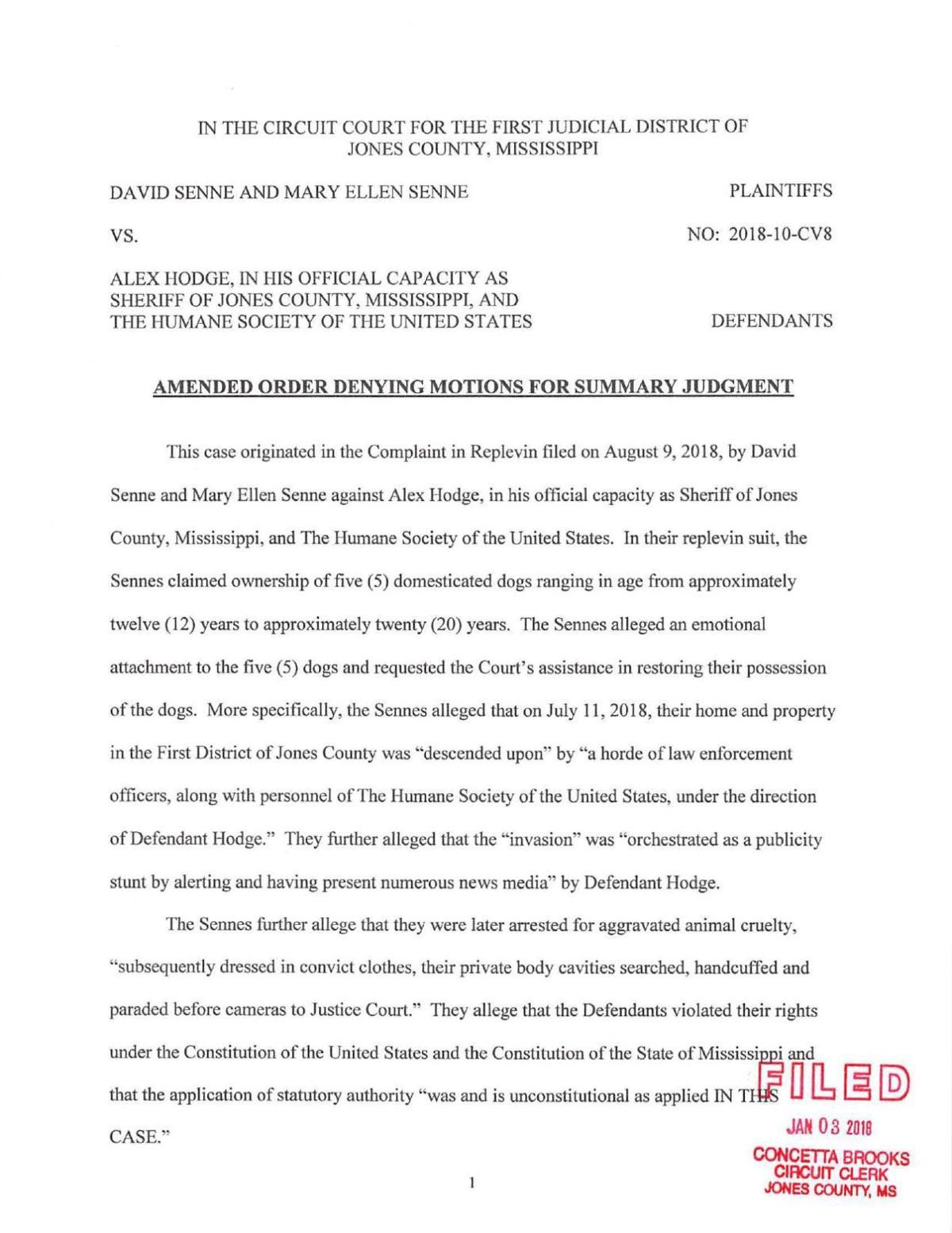 Williamson ruling on Lyon Ranch