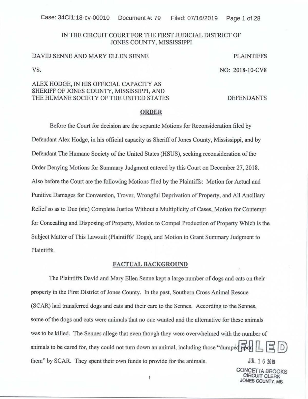 Williamson ruling 7.23.19