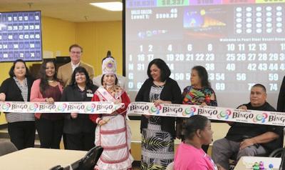 Bok Homa cuts ribbon on Bingo