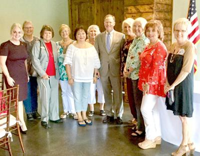 Court of Appeals candidate Jeff Weill visits with the Jones County Republican Women. (Photo submitted)