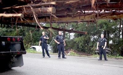 log truck wreck