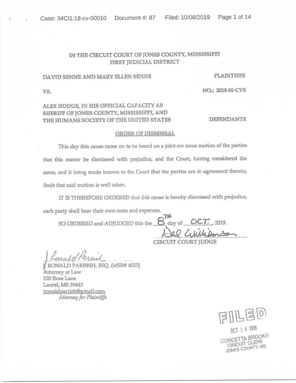 Sennes case closed