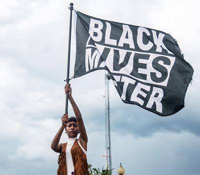 Black Lives Matter protests in Laurel outside of LPD June 8