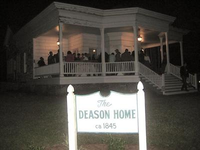 Deason Home haunted tours Saturday