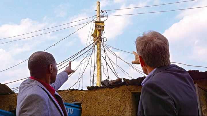 Power lines in Kenya