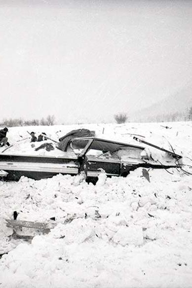 Tragedy slides into Twin Lakes in 1962