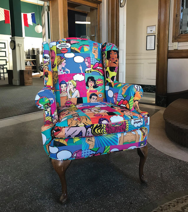"""Pop Art Comic Chair"""
