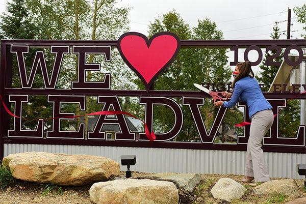 """We Love Leadville"" sign"