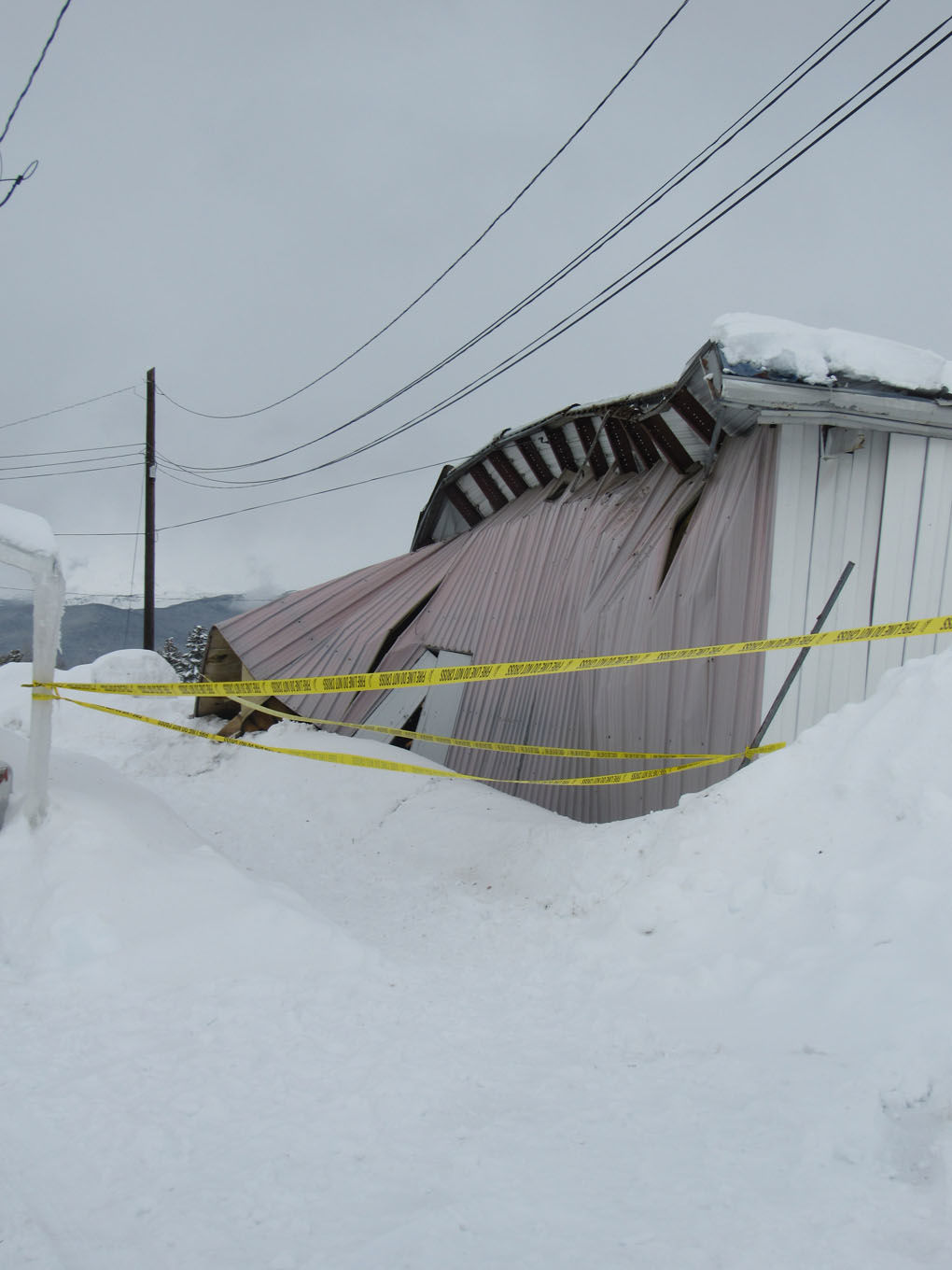Snow and ice bring down bowling alley in Bangor | Local ...  |Bowling Alley Snow