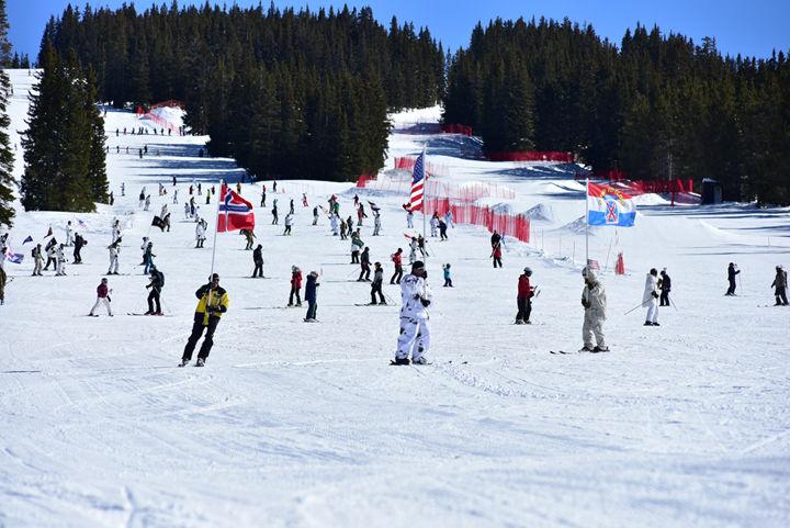 10th Mountain Division ski-down event