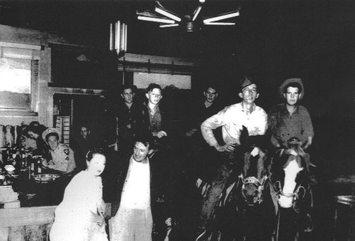 Horses in Pastime Bar