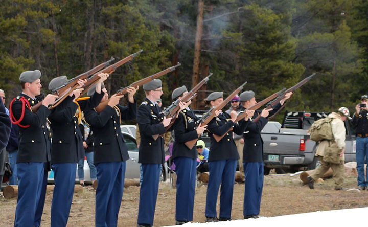 A 21-round rifle salute