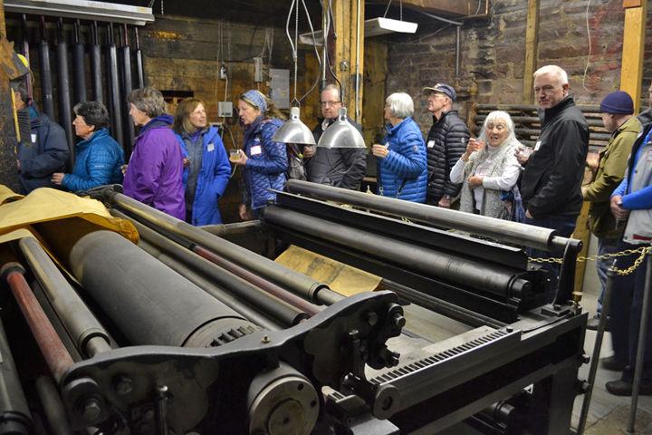 Herald Democrat's historic printing press