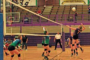 Spiking the ball