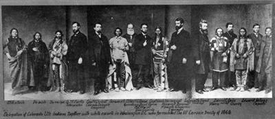 Ute leaders and U.S. government representatives