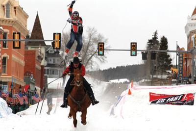 Skijoring returns to Harrison Avenue