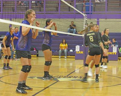 The Lake County High School volleyball team