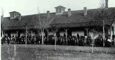 Students at the Fort Lewis Indian School