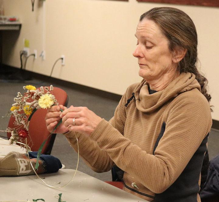 Anne Lee creates her wreath