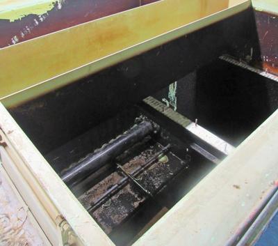 An empty modular filtration tank