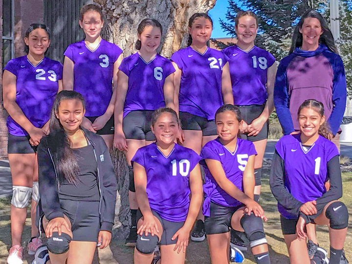 Middle-school volleyball