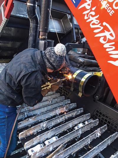 Repairing a snowcat