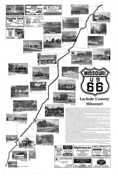 Historic Laclede County Route 66 map -- front