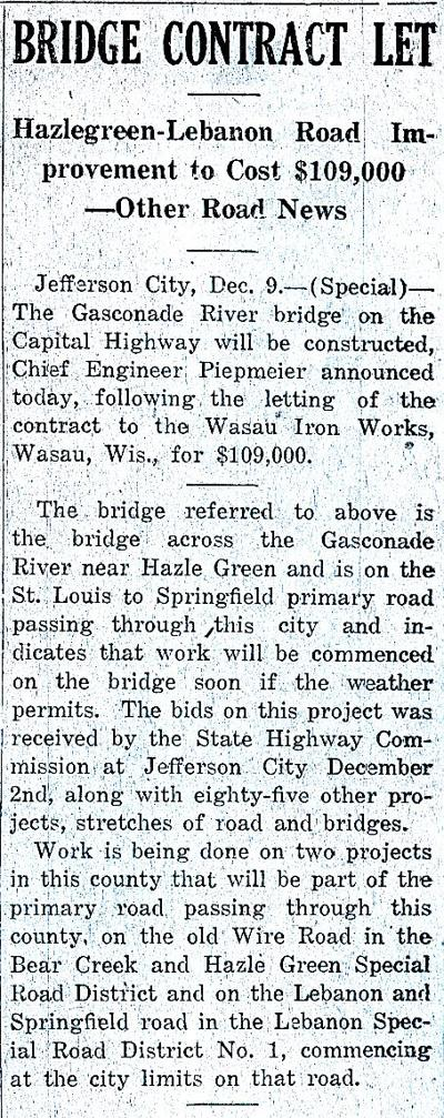 Bridge contract 1922