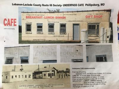 Plans for lettering Underpass Cafe