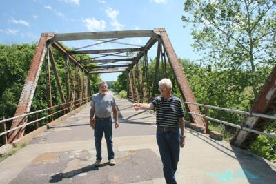 Inspecting Gasconade River Bridge