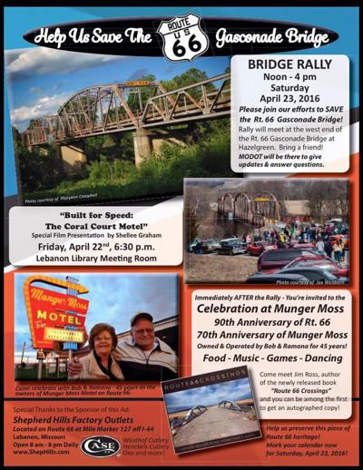 Flyer promoting 2016 bridge rally