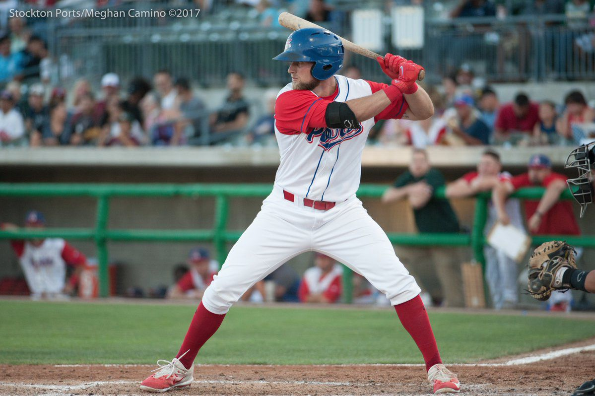 stockton ports: seth brown named minor league baseball player of the