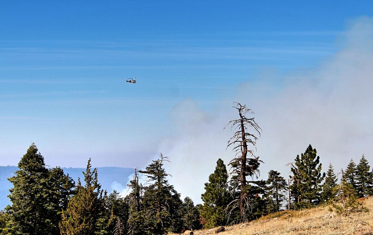 caples5. Spotter planes and a helicopter circle the fire area, monitoring it. Photo by Sarah Spinetta..jpg