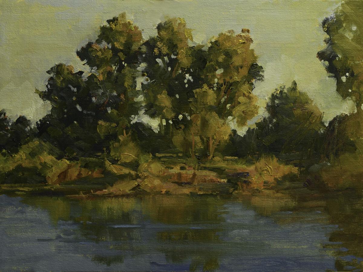 Twilight on the River by Bruce Barton Hancock