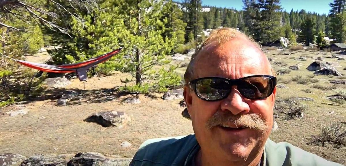 2. Today, Dave is hiking along the Crater Lake Trailhead, which is located just over a mile West of the turnoff for Blue Lakes Road, has an elevation gain of about 1,200 feet, from 7,400 feet to 8,650..jpg