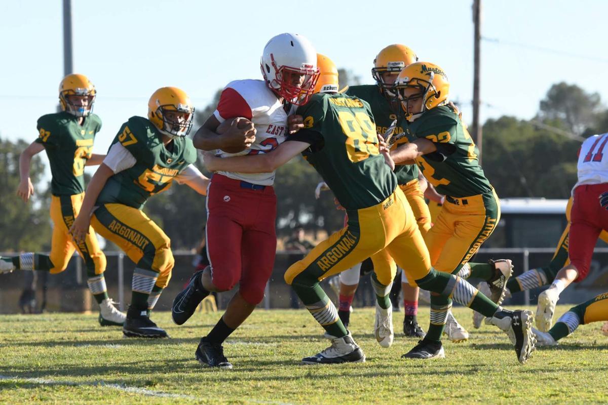 Austin Ewing makes the tackle on defense DSC_4496.jpg