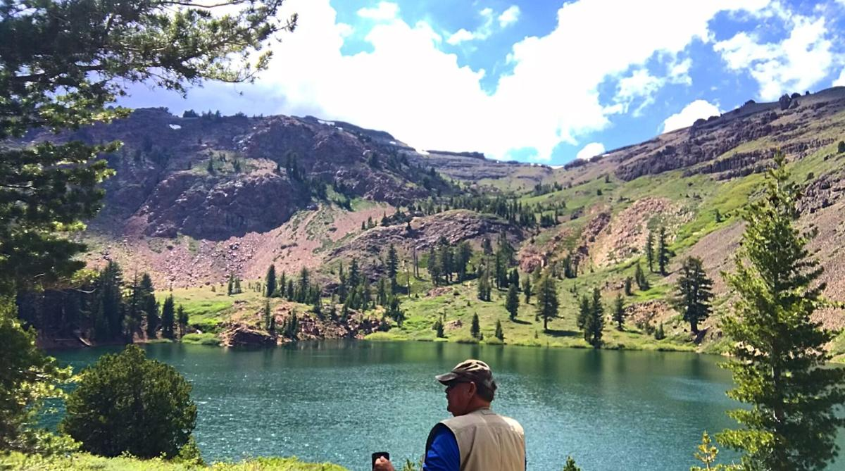 3. Dave has a cup of coffee and takes in the sights at Crater Lake. Photo by Dave Gebauer..jpg