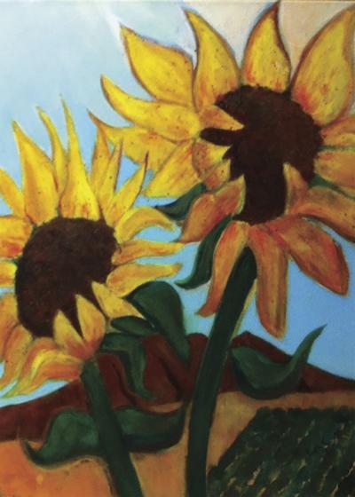 Sunflowers Soaking in the Sun