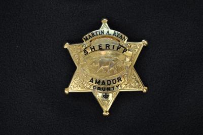 Amador sheriff badge