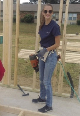 Gabby getting it done!