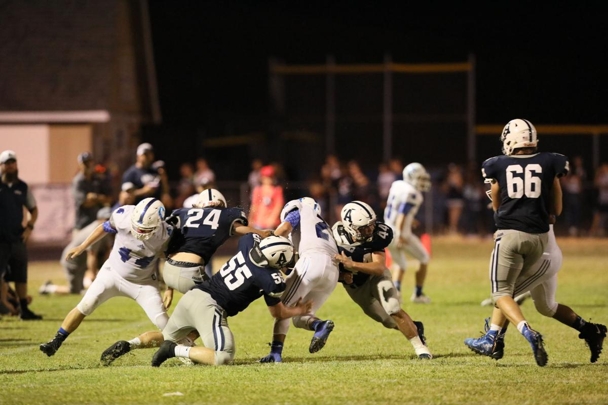 Pursuit and pain. The Amador defense was deep, storng and swarming.jpg