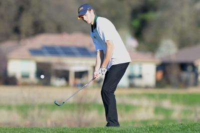 Carter Swingle gets onto the green at hole #6 DSC_9106.jpg