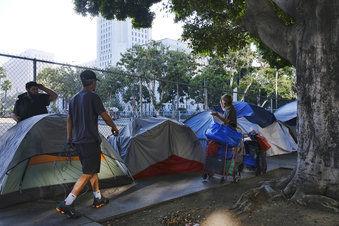 Los Angeles-Homeless-Trump