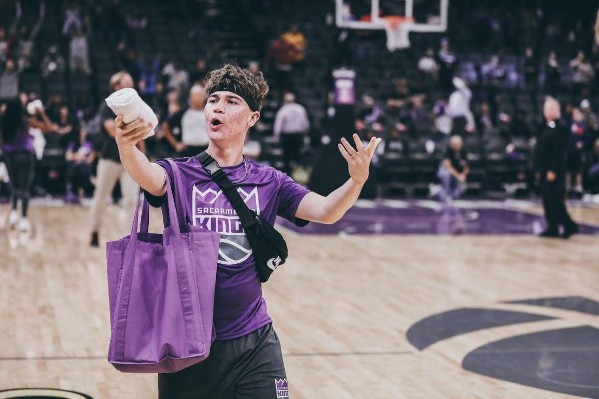 1. From entertaining fellow students at Amador High School as the leader of the Blue Crew to 17,000 on the Sacramento Kings' court as a member of their Street Team, Zach Conrardy has always been an entertainer. Photo courtesy of Zach Conrardy..JPG