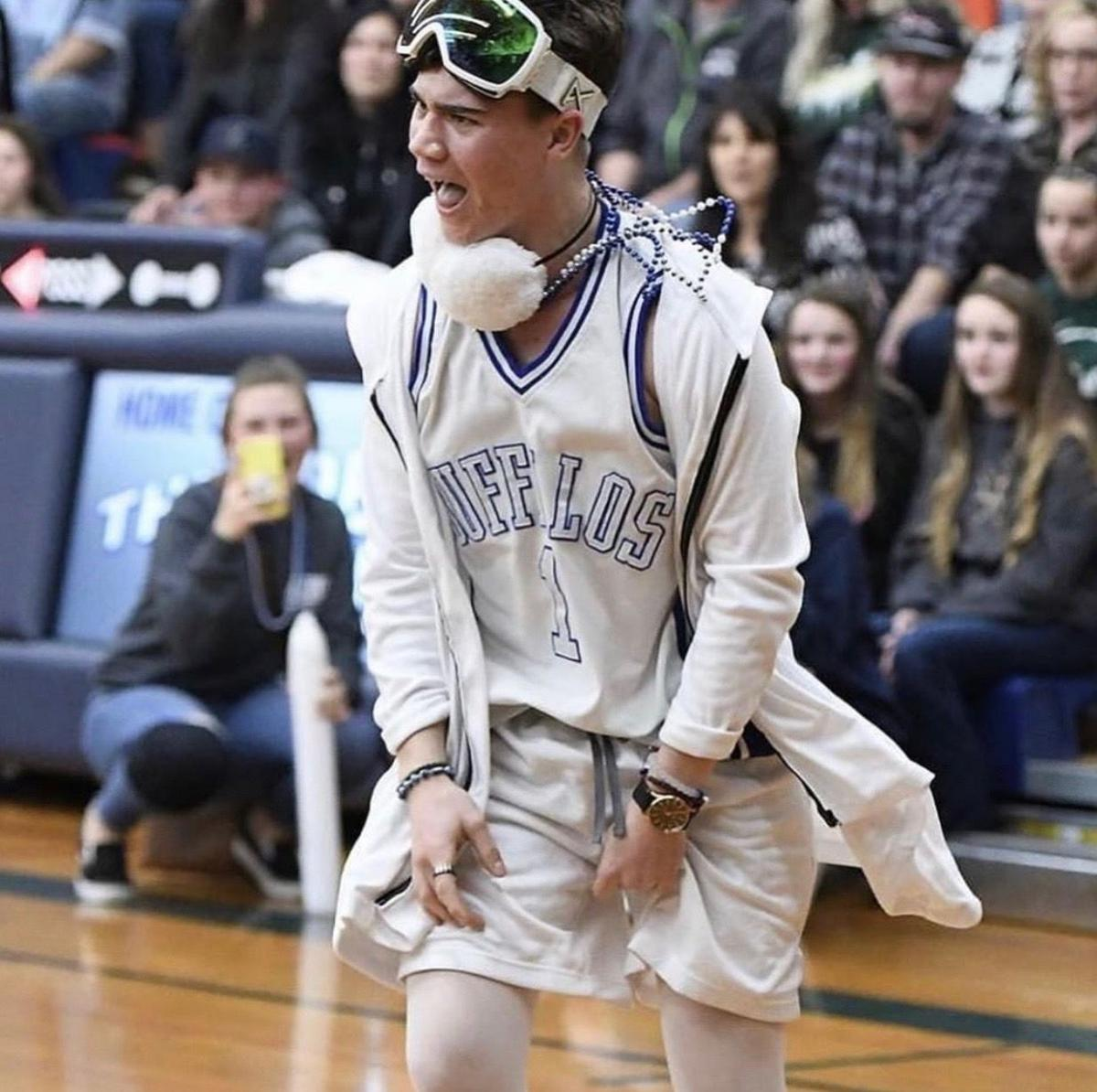 2. From entertaining fellow students at Amador High School as the leader of the Blue Crew to 17,000 on the Sacramento Kings' court as a member of their Street Team, Zach Conrardy has always been an entertainer. Photo courtesy of AJ Johnson..jpeg