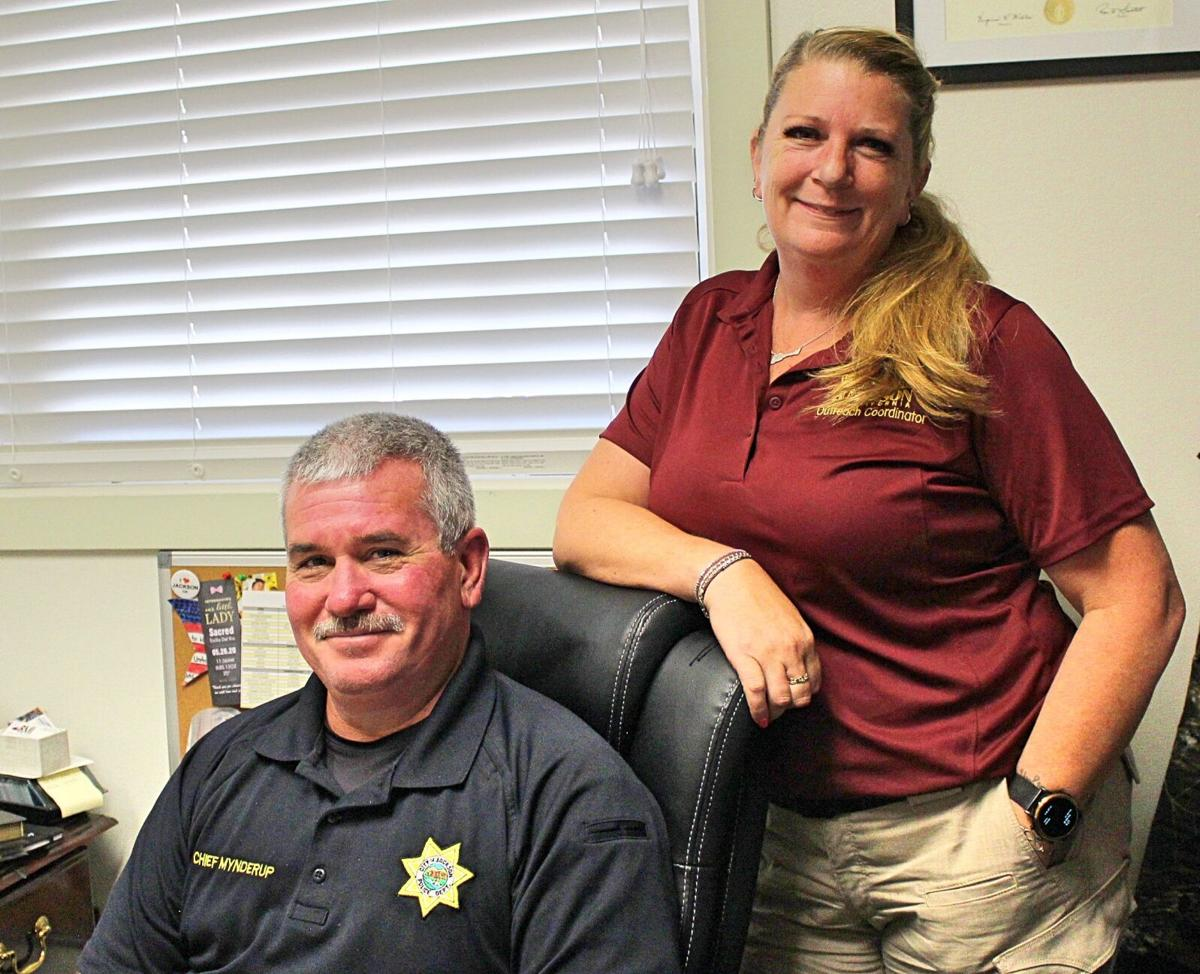 1. Jackson Police Chief Chris Mynderup and Homeless Outreach Coordinator Christine Platt are working together to help houseless people in the City of Jackson get back on their feet. photo by Dave Gebauer..jpg