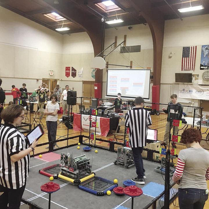 Two Troy robotics teams advance to state tournament