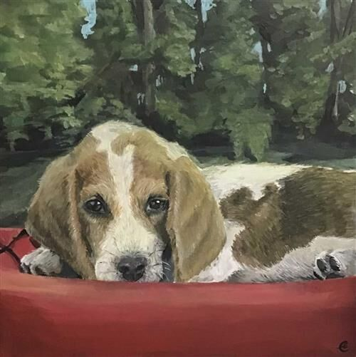 Puppy Painting winning first place