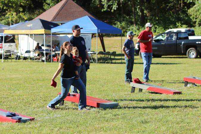 Cornhole, food, fun and music at park fundraiser
